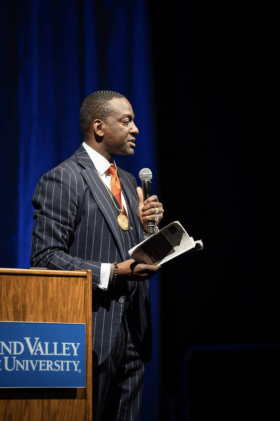 Yusef Salaam gives a presentation