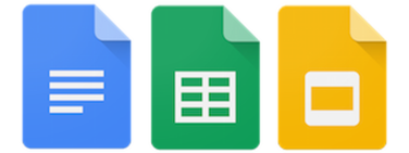 Google Docs, Sheets and Slides Logo