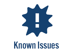 known issues button