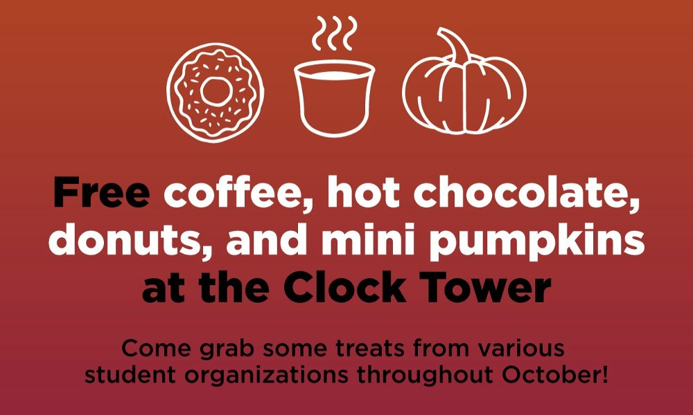 Coffee! Hot Chocolate! Donuts! And of course, mini pumpkins!