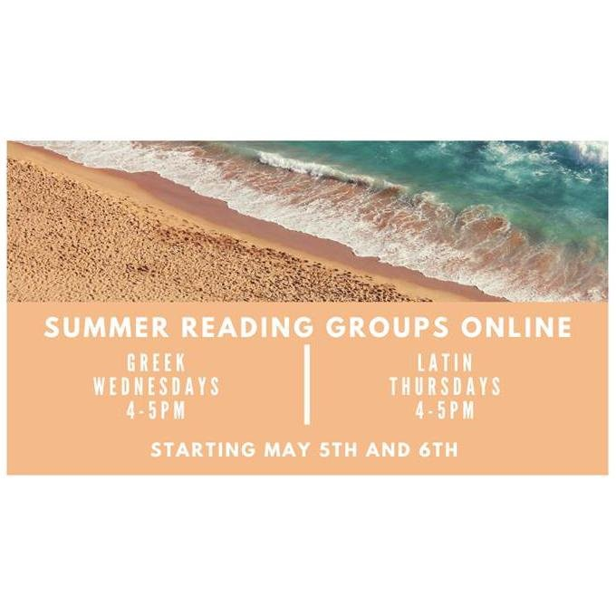 Summer Reading Groups Online - Starting May 5th and 6th