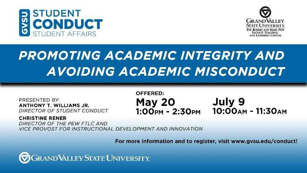 Promoting Academic Integrity and Avoiding Academic Misconduct