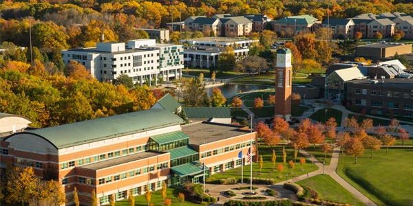 Overview shot of Grand Valley's Allendale campus.