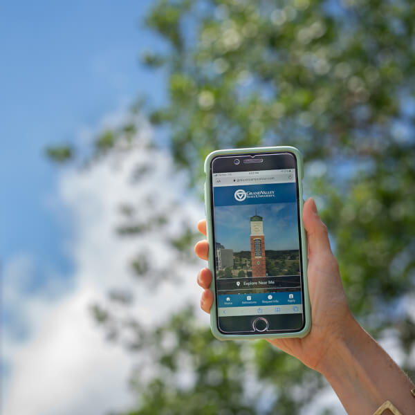 VisiTOUR features a virtual tour guide who will lead guests through an on-campus visit using 360-degree images, videos, audio and text, to highlight each stop on the tour.