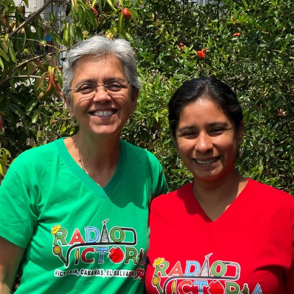 Julie Guevara, left and Paola Leon pictured in El Salvador