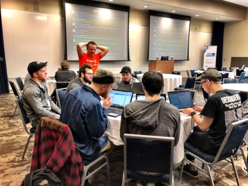 a photo of Grand Valley's hackathon event.