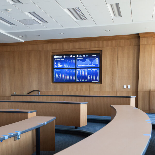 Photo of classroom in the L. William Seidman Center.