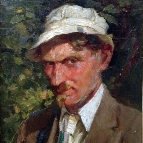 Mathias J. Alten, Self-Portrait, 1917, oil on canvas