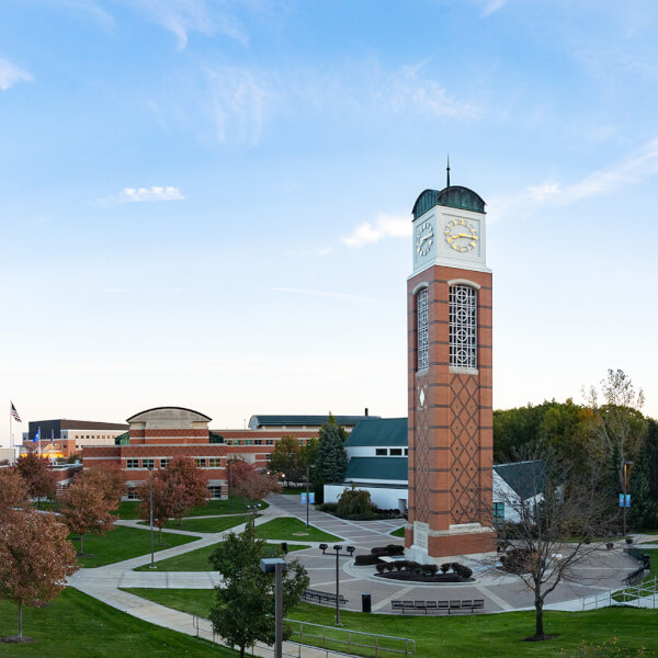 campus featuring Cook Carillon Tower
