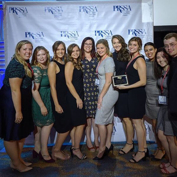 GVPRSSA members with an award.