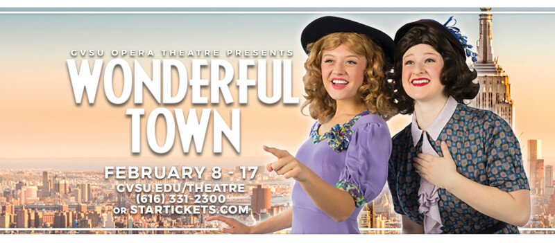 Promotional flier for Wonderful Town