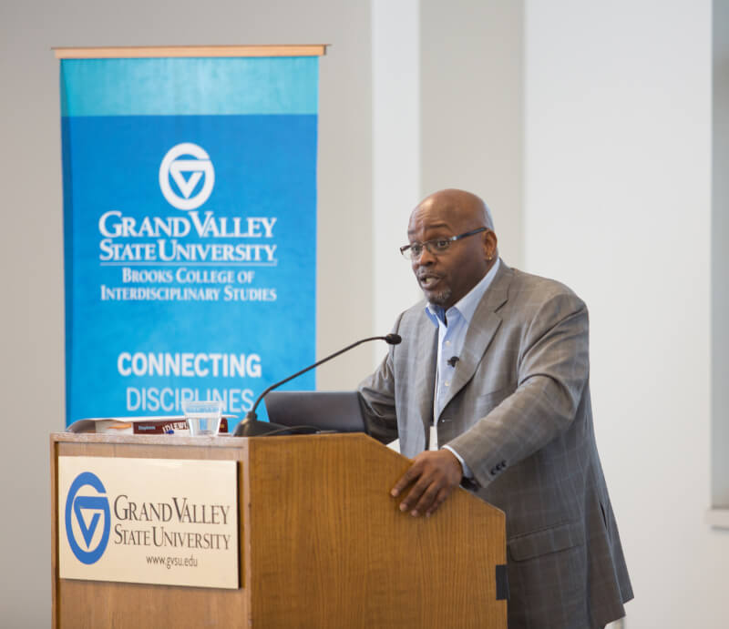 Ronald Stephens, professor of interdisciplinary studies at Purdue University, gives a keynote address about Idlewild at the Local History Roundtable March 29.