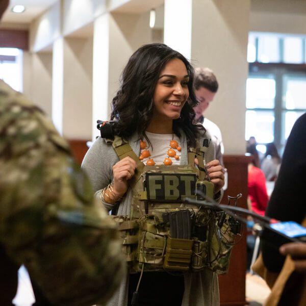 Students had the opportunity to interact with FBI agents during the 2019 FBI Collegiate Academy January 25.