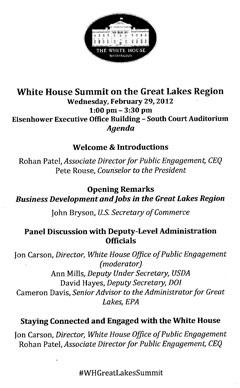 The Summit Agenda