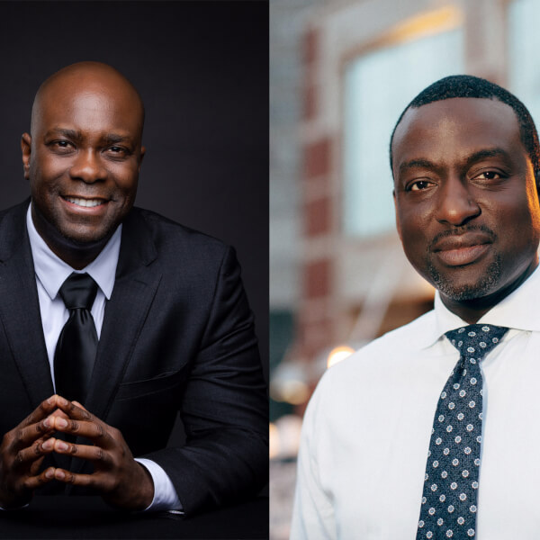 two headshots: Cedric Taylor, left and Yusef Salaam