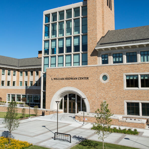 Photo of the L. William Seidman Center.
