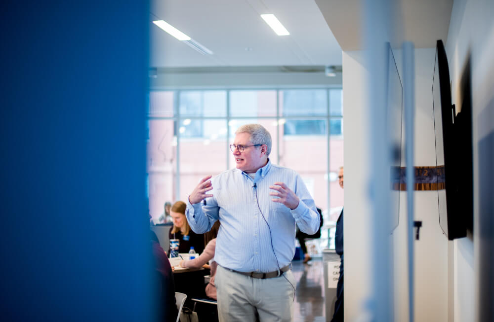 David Coffey, director of the Design Thinking Academy, leads the workshop on the Pew Grand Rapids Campus January 24.