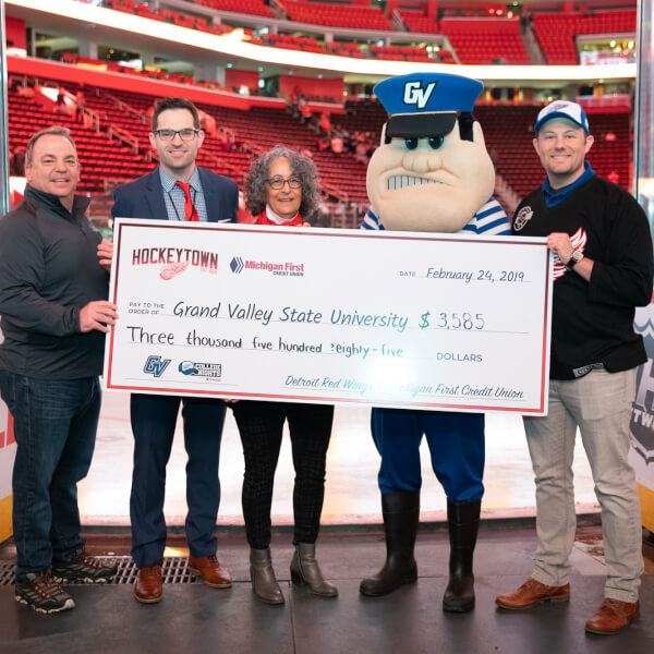 A total of $3,585 was raised through GVSU Night ticket sales for the GVSU Scholarship Fund.