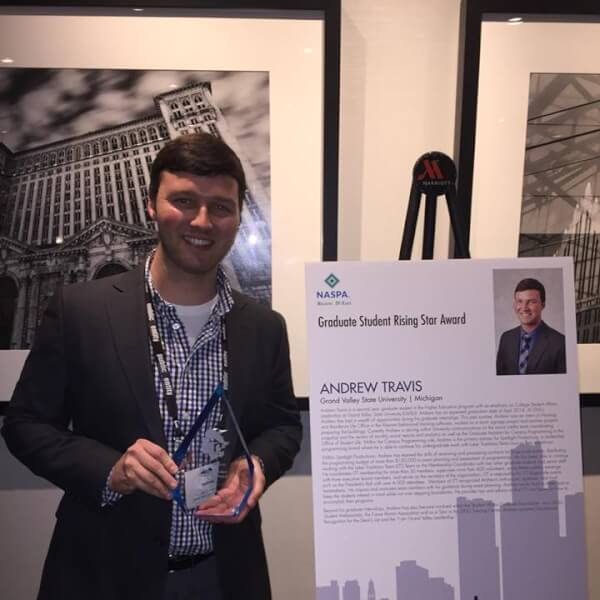 Andrew Travis was recognized at a conference in Detroit in November.