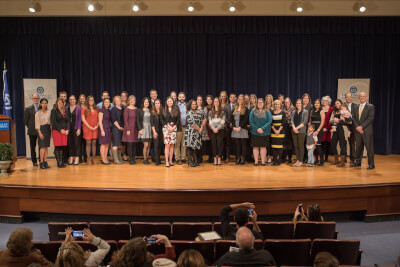 The Graduate School recognized more than 40 graduate students with Dean's Citation Awards during a celebration in December on the Pew Grand Rapids Campus.