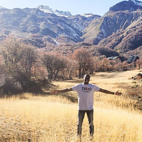 Darvell Reid is pictured on a study abroad trip in Chile.
