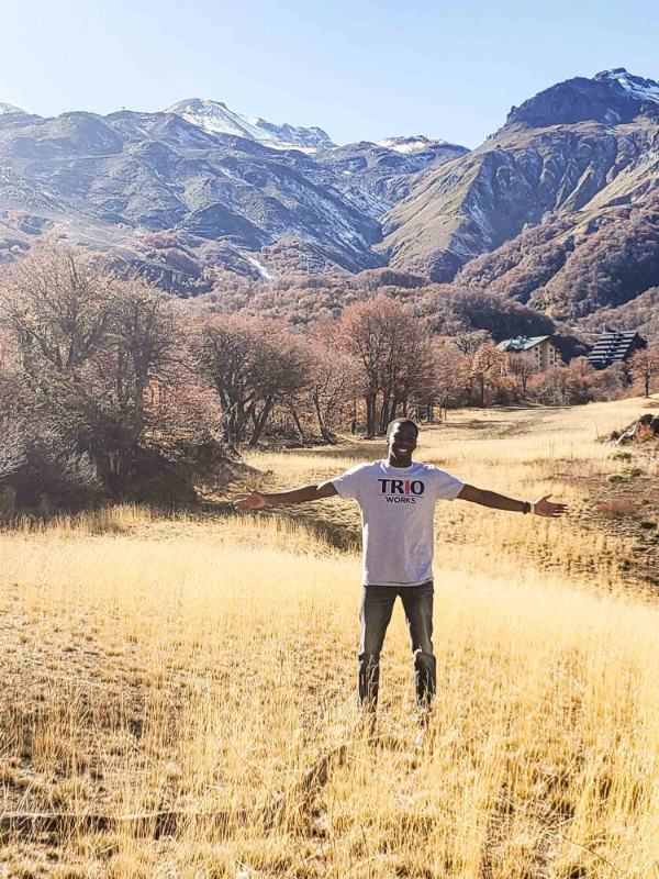Darvell Reid is pictured in Chile on a study abroad trip