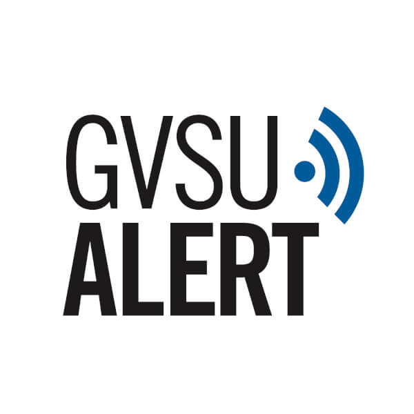 Photo of GVSUAlert graphic