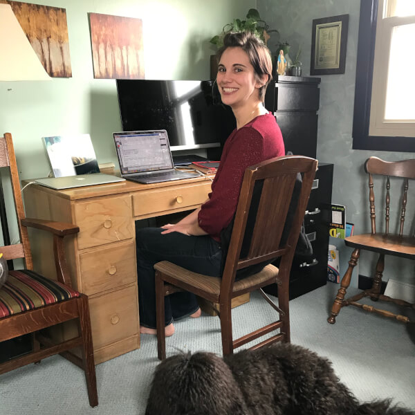 Brittland DeKorver in her home office.