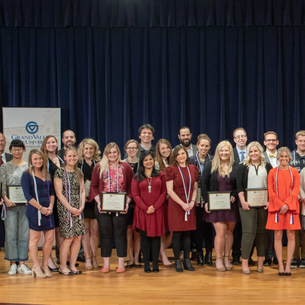 The Graduate School recognized 56 graduate students with Dean's Citation Awards during a celebration April 20 in Loosemore Auditorium on the Pew Grand Rapids Campus.