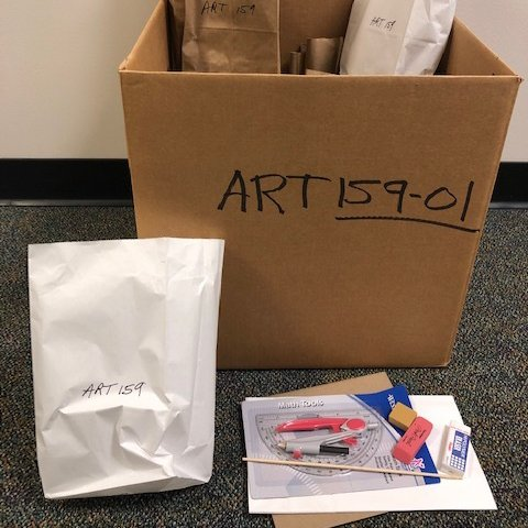 A kit containing art supplies.