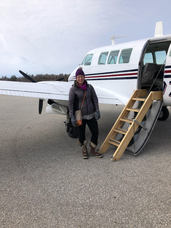 Occupational therapist Stephanie Vaughn, '15, flies to the U.P. to work with students at Mackinac Island Public Schools.