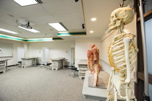 A classroom that is used for health professions programs at Grand Valley's Traverse City Regional Center.