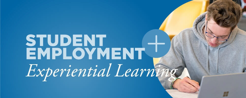 "A graphic that reads ""Student Employment +"""