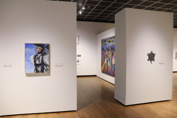 Part of the exhibition at the Muskegon Museum of Art