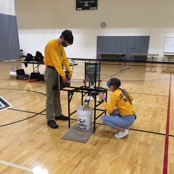 Competitors at the GVSU Science Olympiad