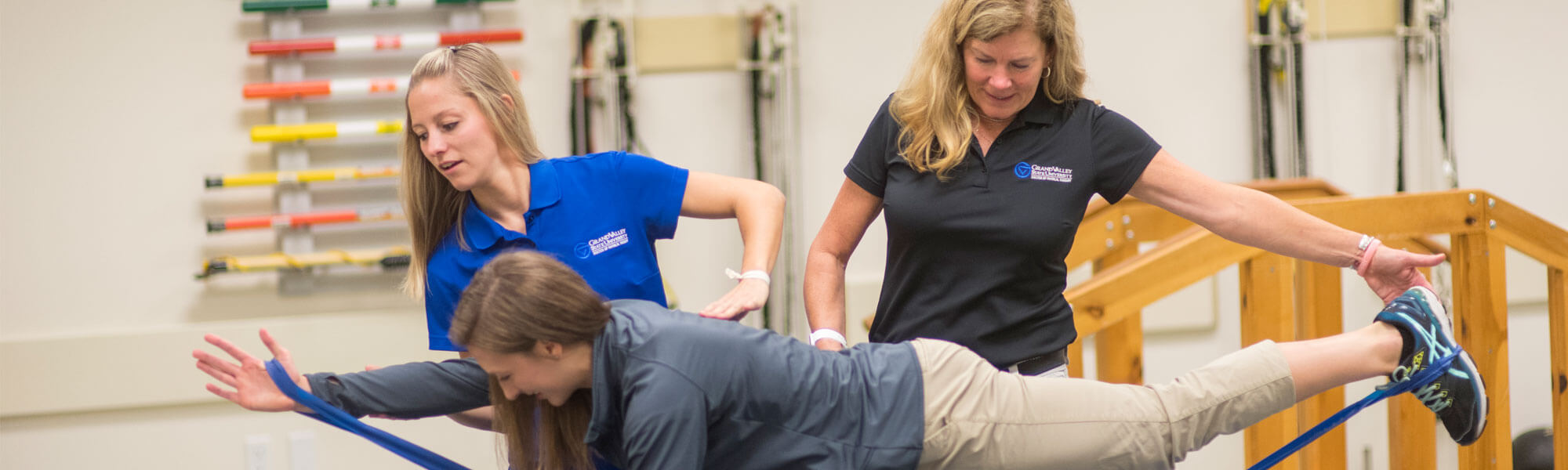 A physical therapy student getting her doctorate at Grand Valley State University.
