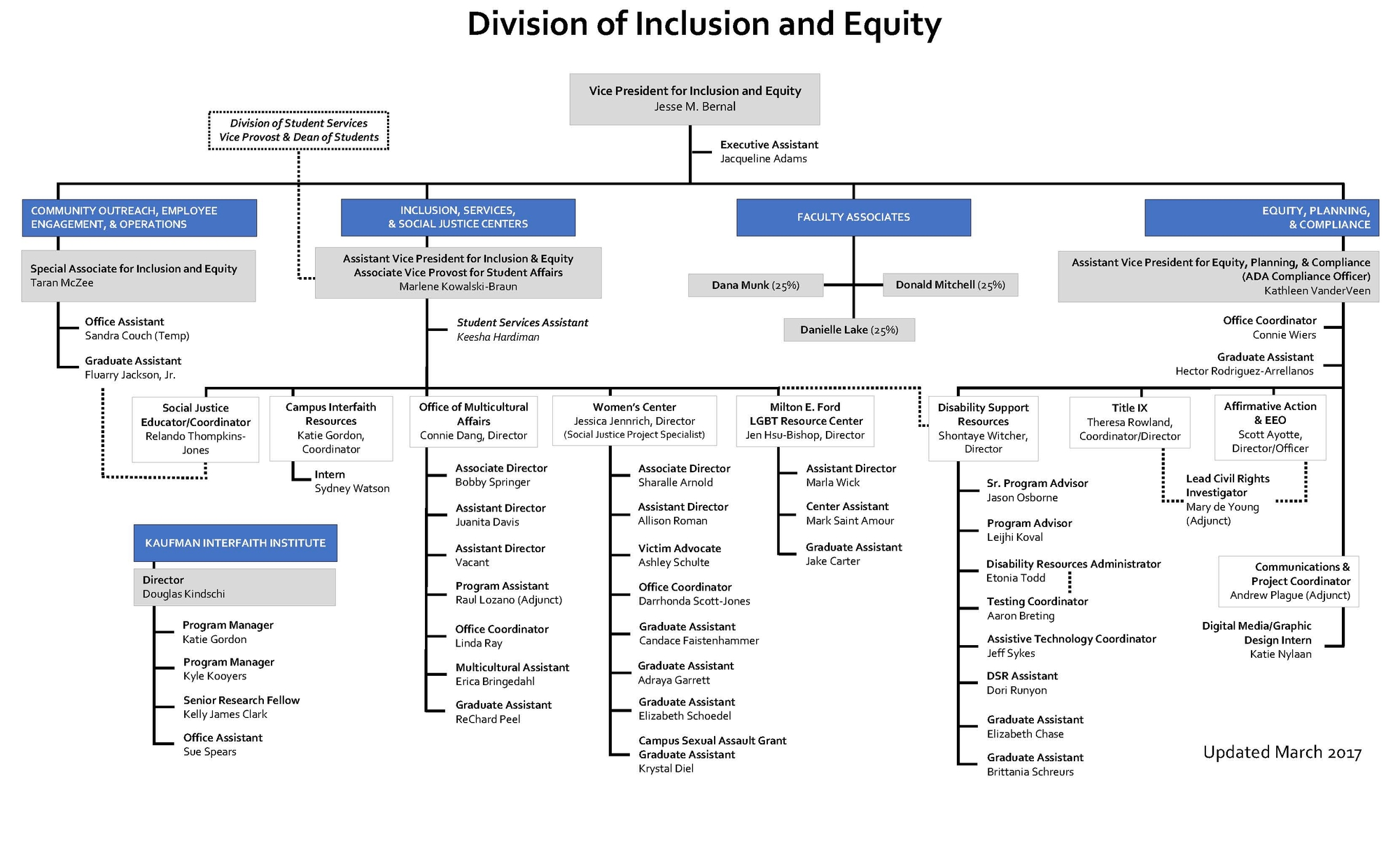 Inclusion and Equity Organizational Chart