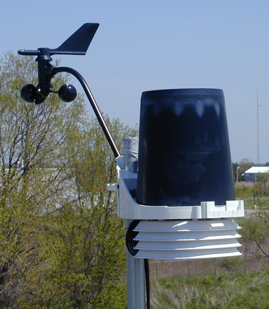 a typical remote weather station
